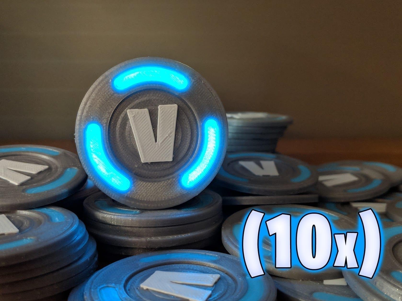Glowing Fortnite V Bucks 10x Improper Engineering